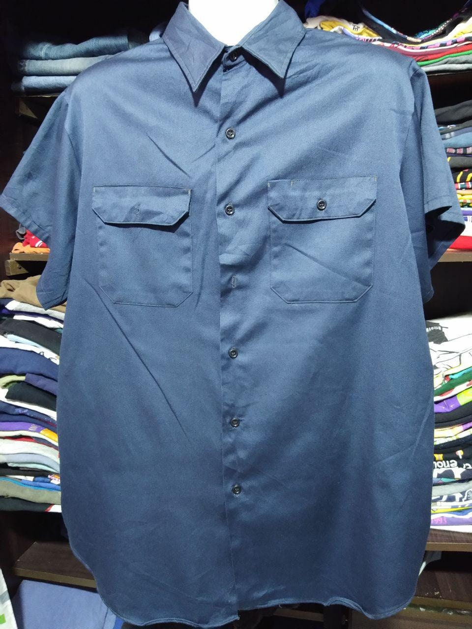 a6d49694b72f Rare Big Mac chemise coton coton chemise travail chemise Vintage vêtements  80 pour homme taille XXL