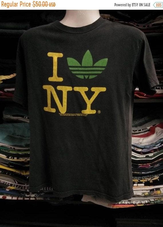 Vintage Clothing 90's rare AAA t shirt I love NY A