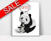 Wall Decor Coffee Printable Panda Prints Coffee Sign Panda Bar Art Panda Bar Print Coffee Printable Art Coffee Coffee Funny Poster Panda