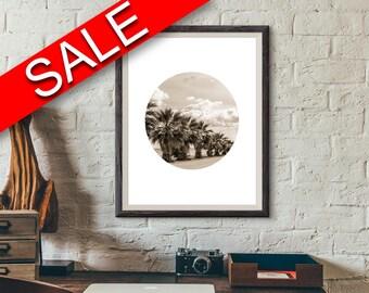 Wall Decor Tropical Printable Photography Prints Tropical Sign Photography  Printable Art Tropical photography trees photo circle photo
