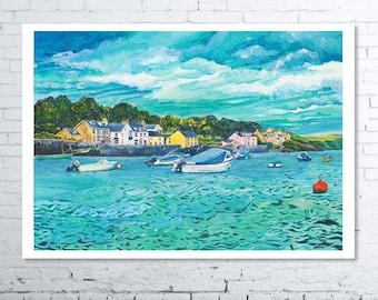 Bobbing Boats Newport Parrog Fine Art Print