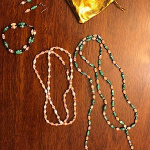 Lovely colorful African handmade recycled paper beads beaded jewelry beautiful Africa set necklace and bracelet FREE Shipping