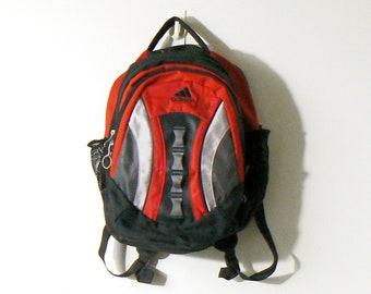 d25b2403eae0 90s Red Adidas Backpack - 90s Backpack Vintage Backpack - Adidas Knapsack -  Adidas Bookbag - 90s Knapsack - 90s Bookbag - Vintage Bookbag
