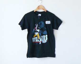f247dc78f 1990 NWT Pittsburgh Steelers T-Shirt - Vintage Steelers Shirt - 90s Steelers  Tee - Vintage NFL T-Shirt - 90s T-Shirt - Youth L Women s XS