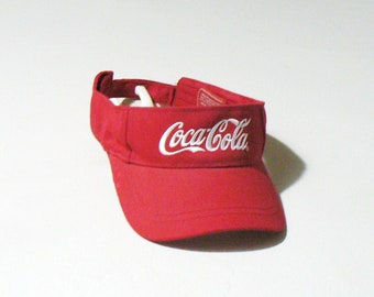 90s Coca Cola Visor - 90s Visor - Vintage Visor - Coca Cola Hat - Coke Visor 1a0987ef9b51