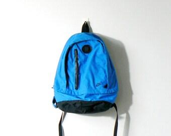 703bd3cf11a 90s Blue   Black Nike Backpack - Vintage Nike Backpack - 90s Nike Bookbag - 90s  Backpack Vintage Backpack 90s Knapsack Vintage Knapsack