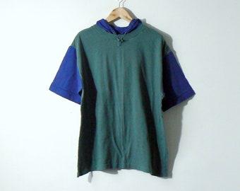 90s Gap Colorblock Hoodie T-Shirt - 90s Hip Hop Clothing - 90s Hoodie -  Men s M 783ad3da3