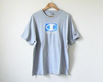 357cc4ea 90s Champion Logo T-Shirt - Vintage Champion T-Shirt - Champion Shirt - 90s  Clothing - Champion Tee - 90s T-Shirt Vintage T-Shirt - Men's XL