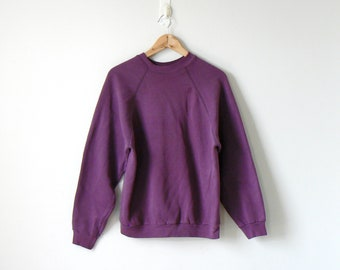 deb757b10fbb 90s Purple Sweatshirt - 90s Sweatshirt Vintage Sweatshirt Oversized  Sweatshirt Big Sweatshirt 90s Clothing - 90s Normcore CLothing - Men s L