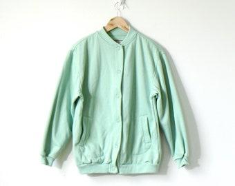 Boho 90s Pastel Lime Green Sweatshirt Cardigan - 90s Sweatshirt Vintage  Sweatshirt - 90s Cardigan - Button Sweatshirt - Normcore - Women s S 425d54d85