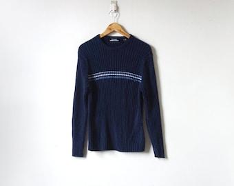 Navy blue sweater | Etsy