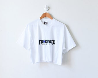 90s Tri-State Blueprinting Cropped T-Shirt Women/'s XL 90s Crop Top