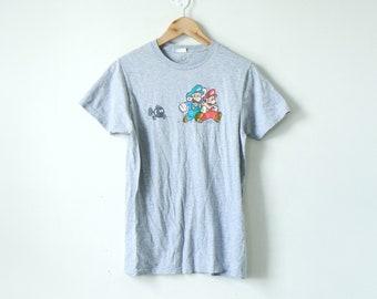 8512a44b2 90s Retro Mario   Luigi Nintendo T-Shirt - Vintage Nintendo Shirt - Vintage  Mario T-Shirt - Luigi T-Shirt - Mario Bros T-Shirt - Men s S