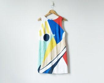 8383f785fae 90s Mondrian Colorblock Dress - 90s Dress - 90s Clothing - Women s S M