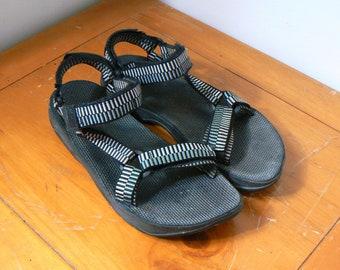 d4c575c20631a Boho 90s Teva Sandals - Men s Size 12 - 90s Tevas - Vintage Tevas - 90s  Sandals - Boho Sandals - Hippie Sandals - Vintage Mens Sandals