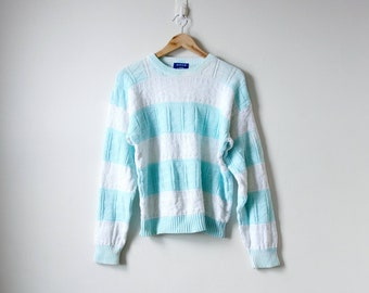 80s Striped Sweater Etsy