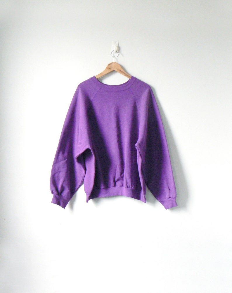 80s Big Purple Sweatshirt Big 80s Sweatshirt Vintage Sweatshirt Oversized Sweatshirt Men's 2XL