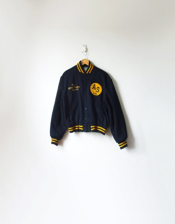 "1980 Black & Yellow ""NHAC Champs 78, 79, 80"" Lette"
