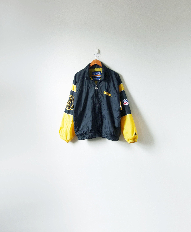 cheap for discount 7ba03 b74ca 90s Starter Steelers Windbreaker Jacket - Pittsburgh Steelers Jacket -  Vintage Starter Jacket - Starter Windbreaker - NFL Jacket - Men's L