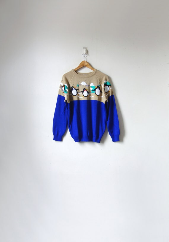 1960s Kitschy Penguins Sweater - Vintage Winter Ho