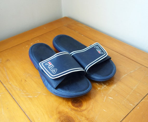 Vintage 90s FILA Slides Size 9 or 11 Mens 90s Clothing 90s Shoes 90s Sandals 90s Hip Hop Clothing 90s Streetwear Shoes