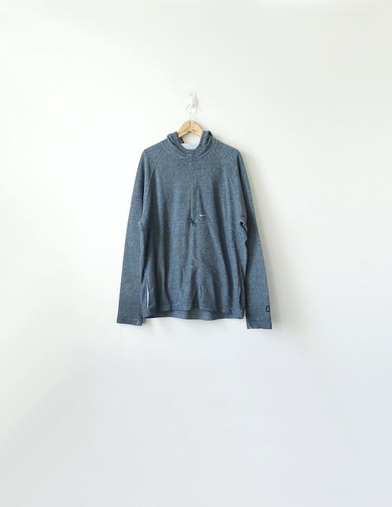 90s Nike Gray Fleece Hoodie - Vintage Nike Sweatsh