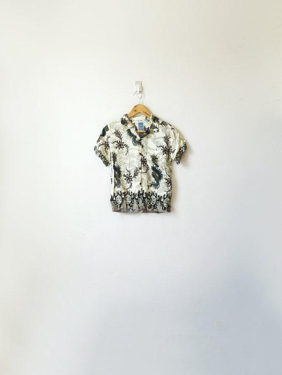 XS // 90s Dragons Hawaiian Shirt - Vintage Hawaiia