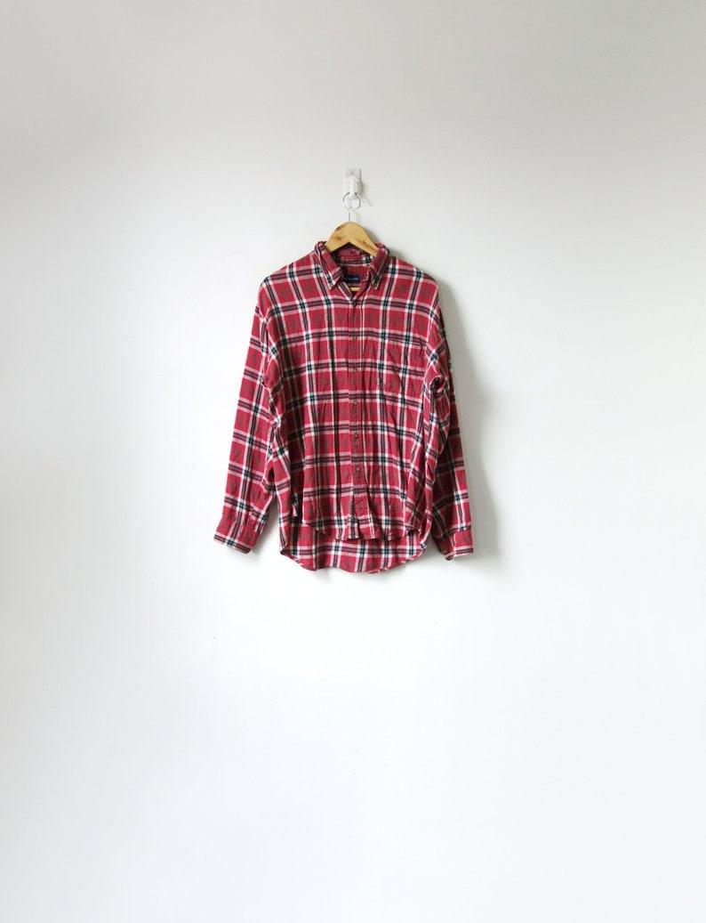 Blue /& White Flannel Shirt 90s Red 90s Flannel Vintage Flannel Men/'s M