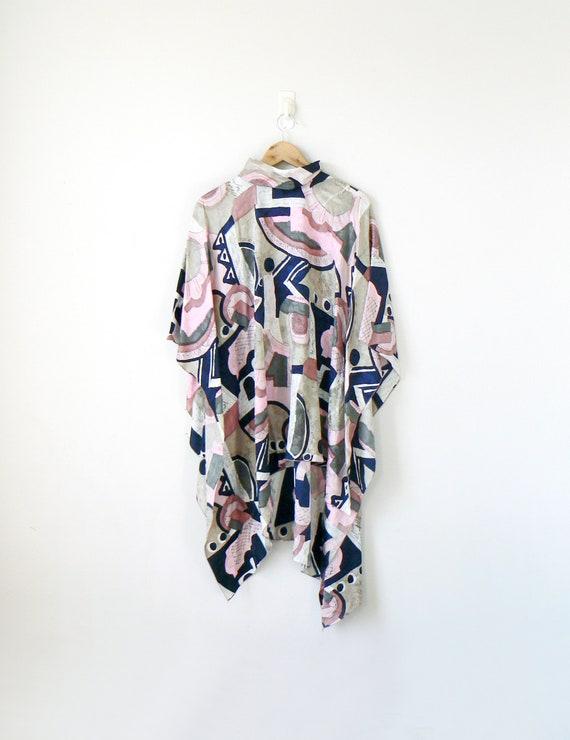 70s Mark Heister Silk Drape Top - Vintage Mark Hei