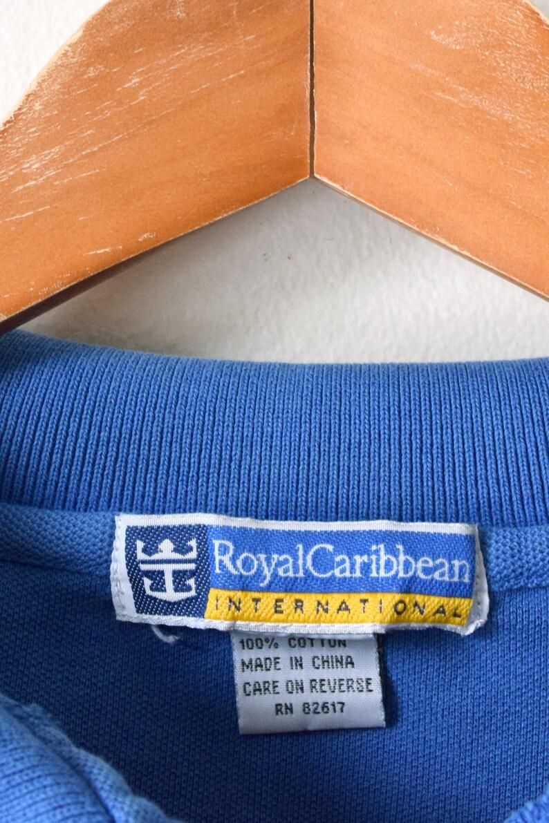 90s Royal Caribbean Cropped Polo Shirt Women/'s XL 90s Crop Top Polo