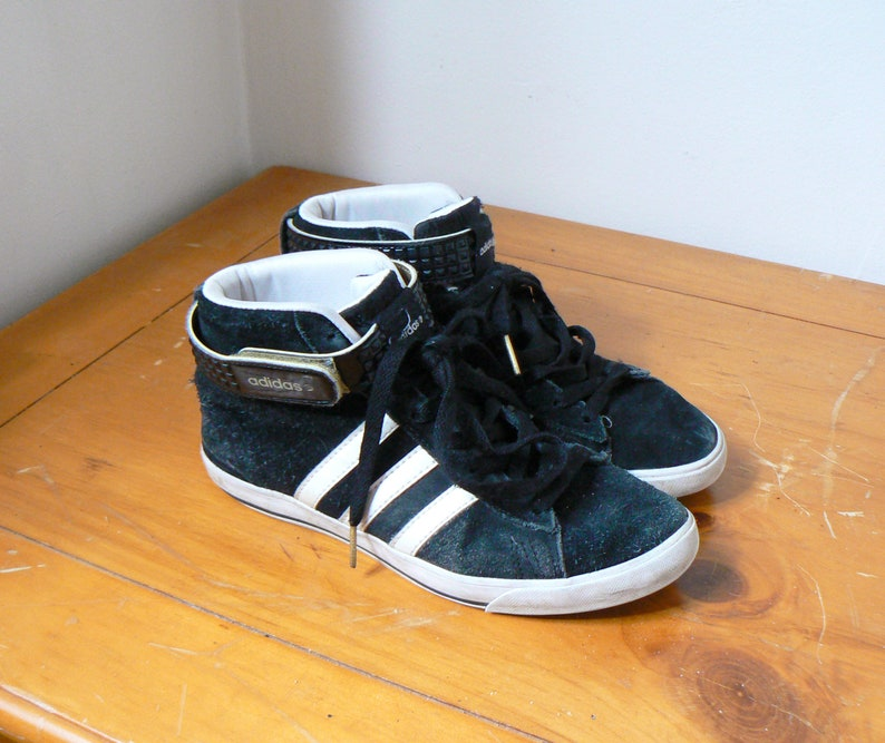 4b32aa5ea9d2 90s Suede Adidas High Tops - 90s High Tops - 90s Adidas Sneakers - 90s Hip  Hop Clothing - 90s Sneakers - i90s Suede Sneakers - Women s 5.5
