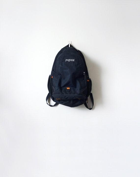 90s Jansport Black Backpack - 90s Backpack - Jansp