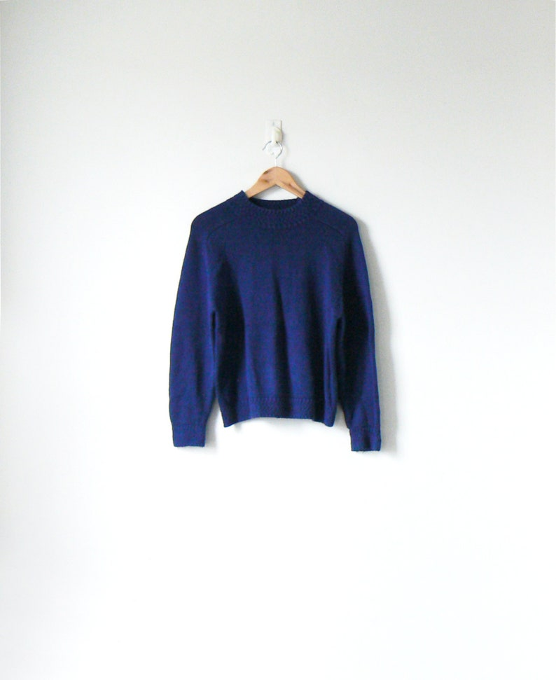28abecc19 90s Navy Blue Mock Neck Sweater - Blue Sweater 90s Sweater 90s Clothing -  Normcore Sweater - 90s Preppy Clothing - Women's M