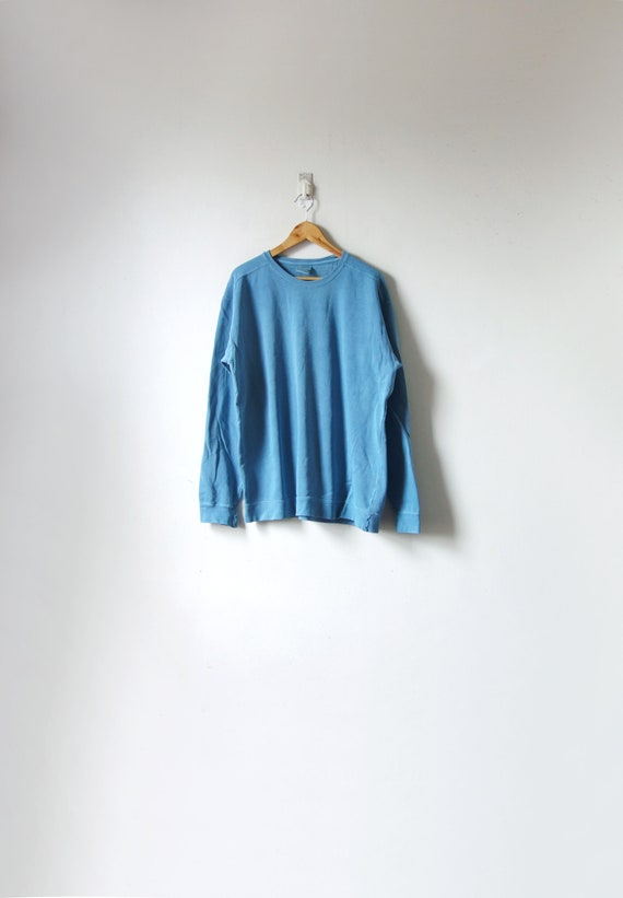 90s Seaglass Blue Faded Sweatshirt - Vintage Sweat