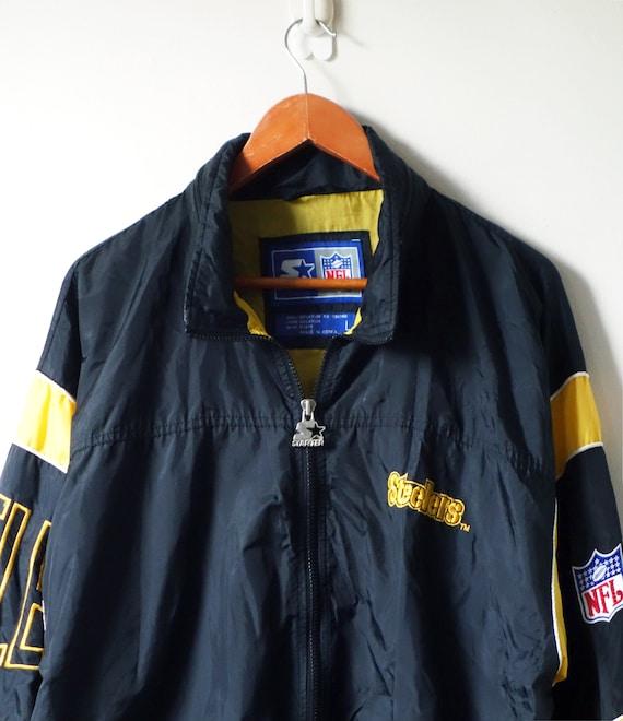 new arrivals 954e3 dcd70 90s Starter Steelers Windbreaker Jacket - Pittsburgh … - Gem