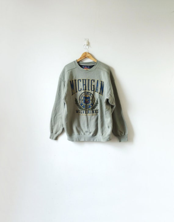 90s Michigan Wolverines Sweatshirt - Michigan Sweatshirt - College Sweatshirt - Men's L