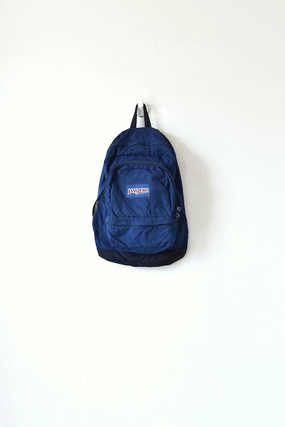 90s Jansport Dark Blue Backpack - Vintage Jansport
