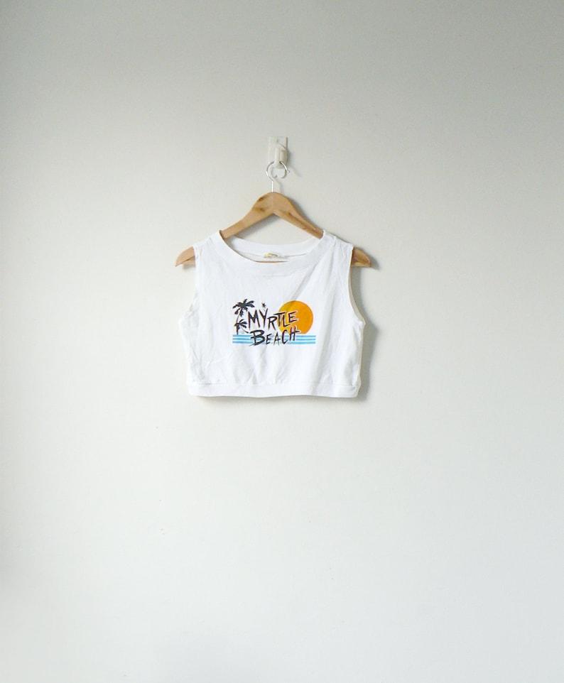 f06cc54ac80 90s Myrtle Beach Crop Top 90s Shirt 90s | Etsy