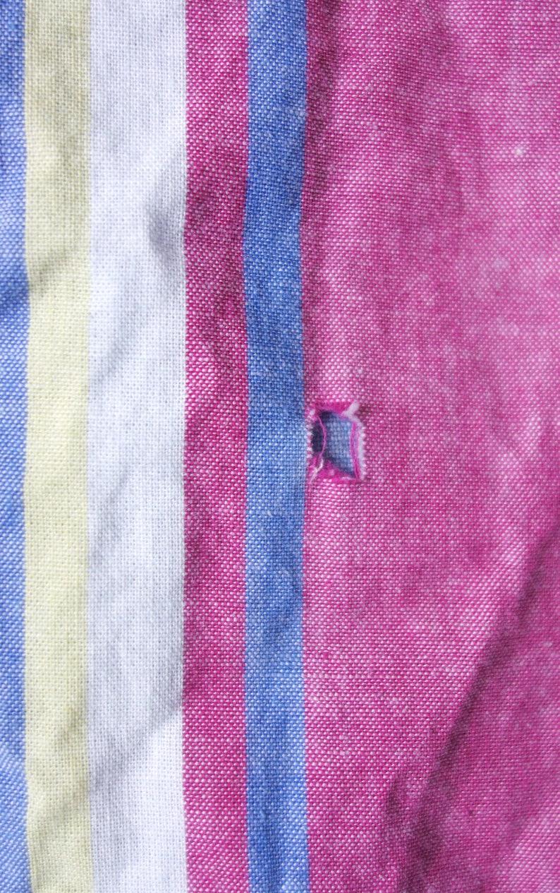 Vintage Tommy Hilfiger Jacket Men/'s XL 90s Hilfiger Candystripe Light Denim Jacket