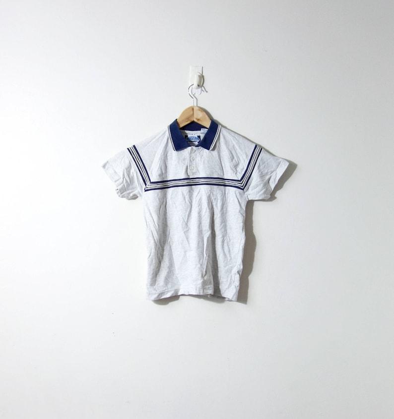 b217b91d84 90s Texture Striped Polo Shirt Gray & Blue 90s Polo Shirt | Etsy