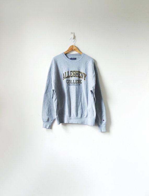 90s Allegheny College Sweatshirt by Champion - 90s