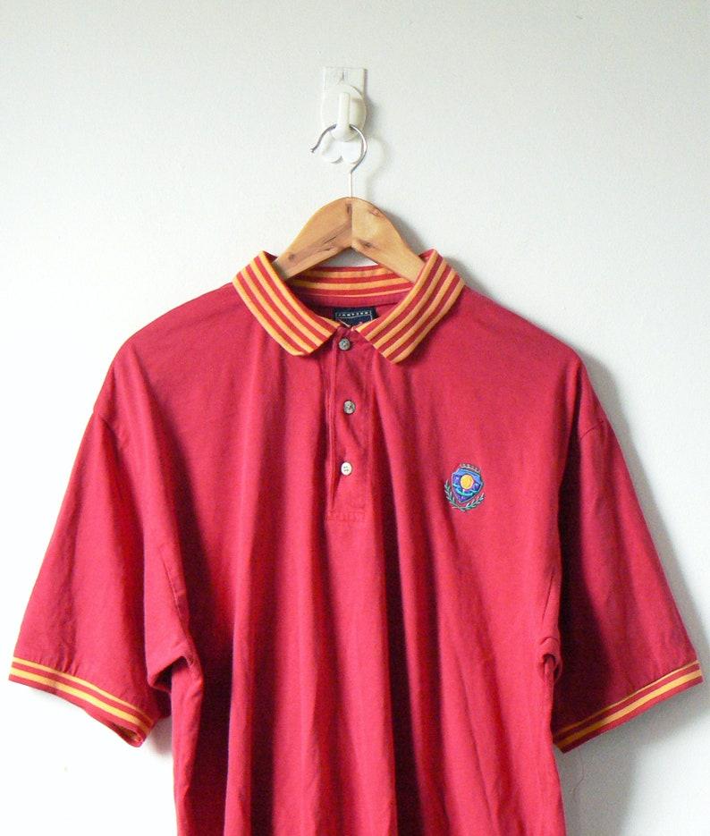 033b2cfeeb 90s Jantzen Red & Yellow Polo Shirt 90s Polo Shirt 90s | Etsy