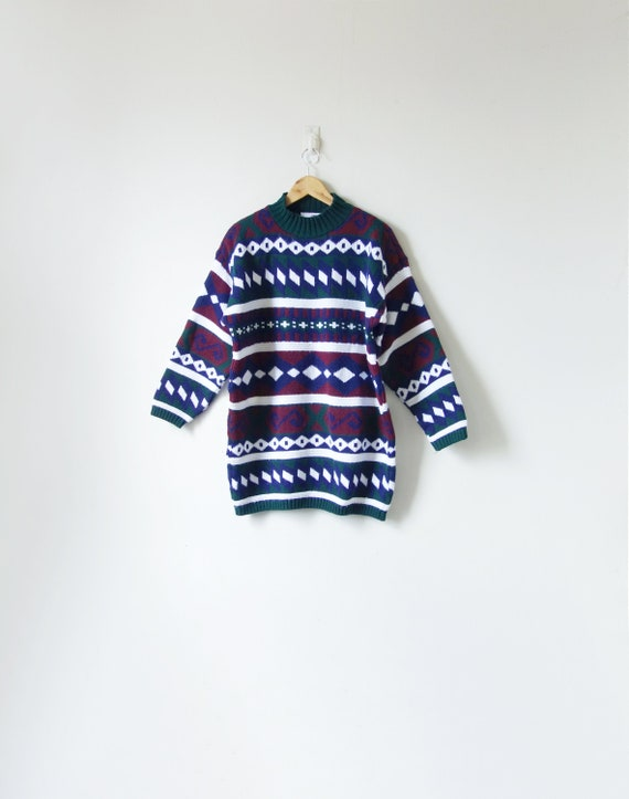 Blue Sweater 90s Sweater 90s Clothing Normcore Sweater 90s Preppy Clothing Women/'s M 90s Navy Blue Mock Neck Sweater