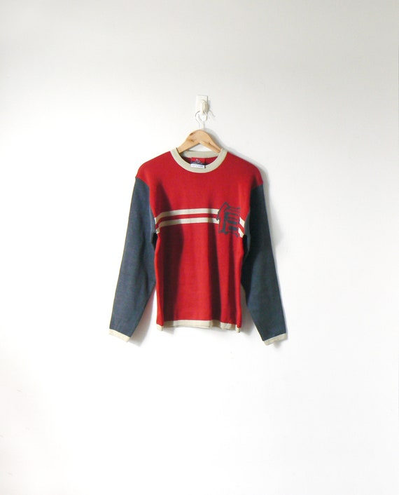 f47b1be4f 90s Japanese Character Colorblock Sweater 90s Sweater