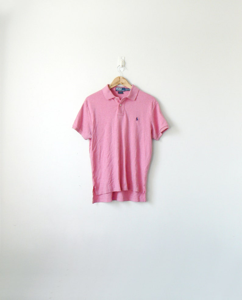 0fe7048b 90s Ralph Lauren Polo Pink & Navy Blue Polo Shirt Pink Polo | Etsy