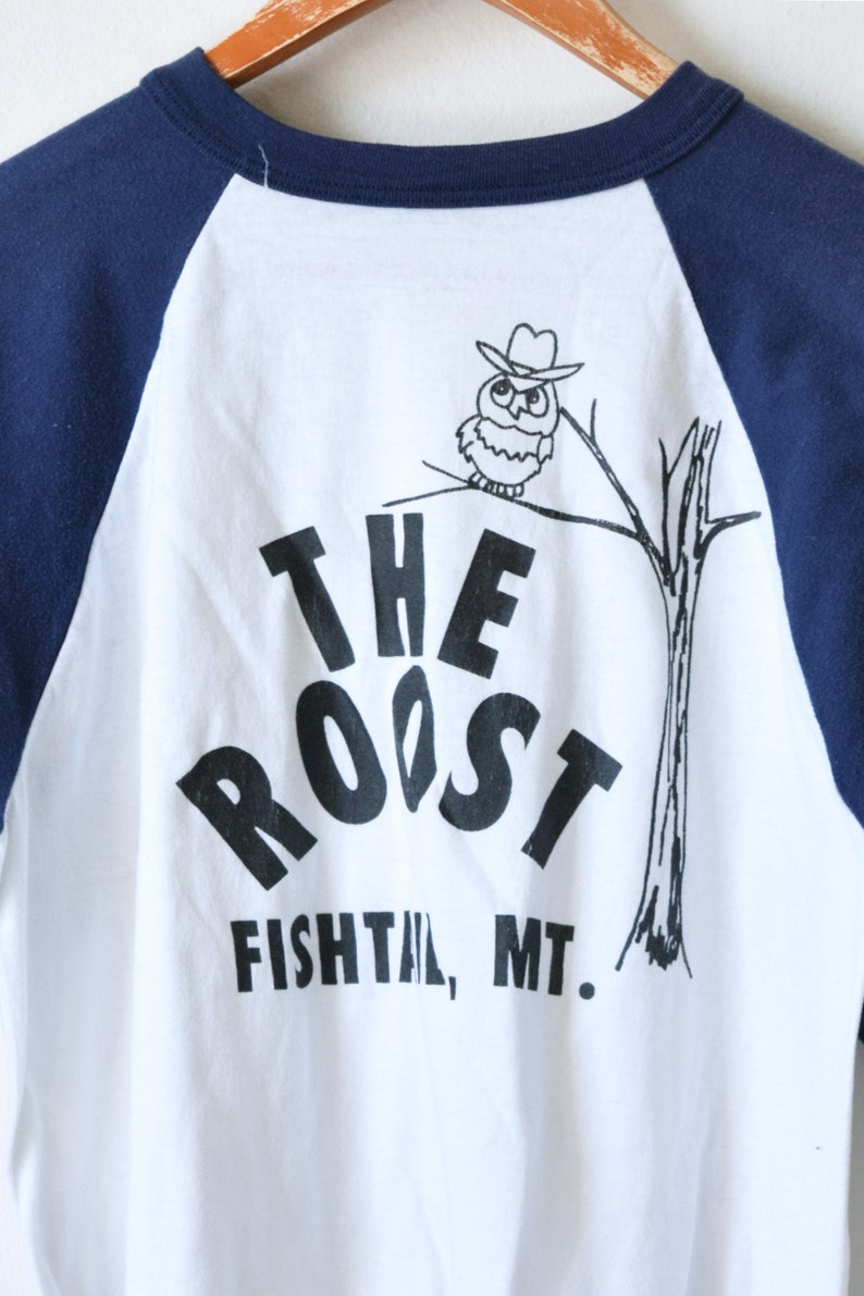 Women/'s L Vintage 70s Crop Top 70s The Roost Cropped T-Shirt