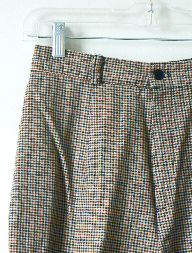 80s Pants 28 Waist Women/'s SM 80s Clothing 80s Womens/' Tweed Trousers with Stirrups