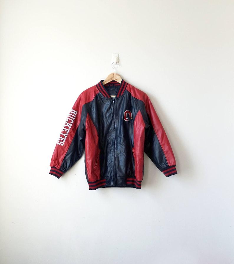 best loved eb7a1 16dee 90s Ohio State Buckeyes Leather Jacket Ohio State Jacket   Etsy