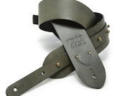The Signature Guitar Strap - Slate Gray Leather