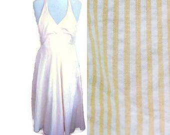 Vintage Summer dress, 50s style dress, marilyn monroe dress, Summer dress, Striped dress, Classic dress, retro dress, cotton dress, size XS